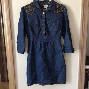 Dresses & Skirts - Dainty June 3/4 sleeve denim dress